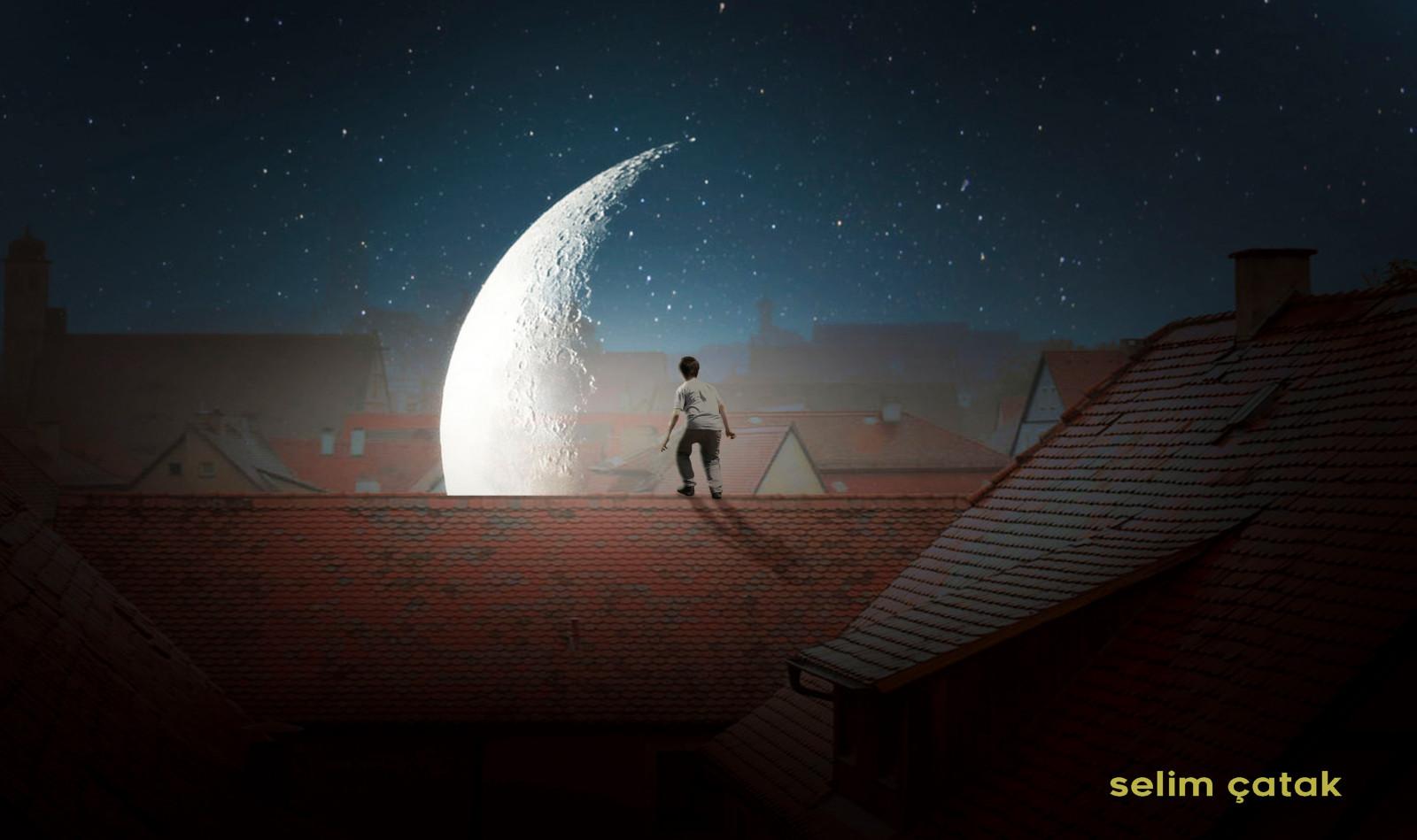 картинки ночь крыша луна скандалом