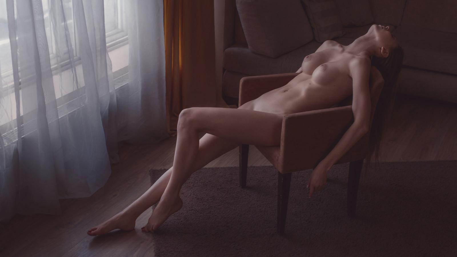 kvinnlig röv naken