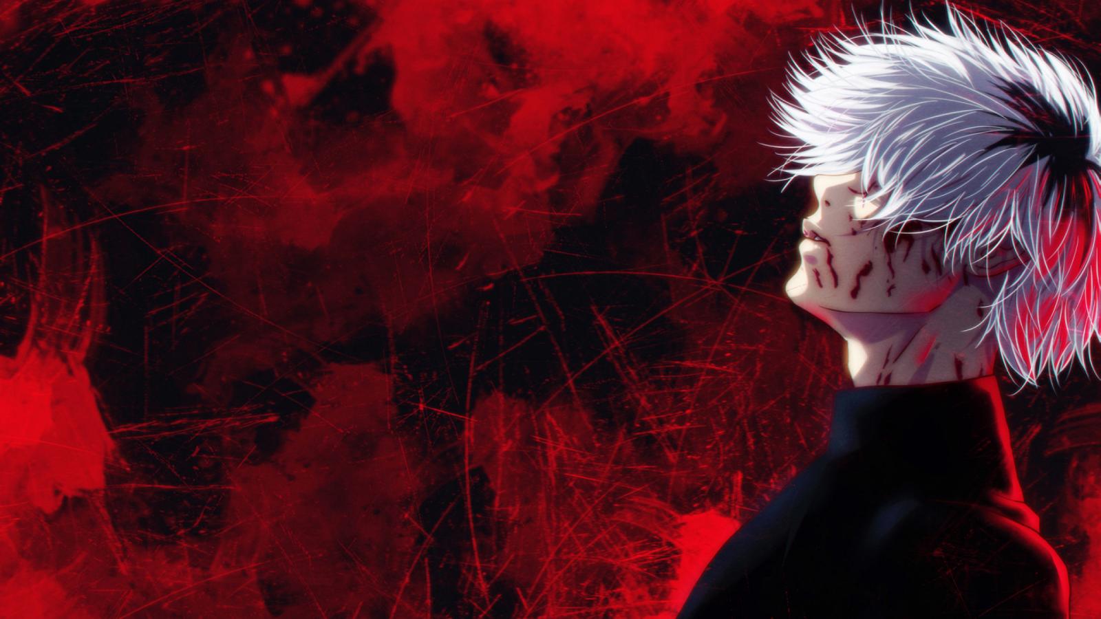 Wallpaper Anime Ken Kaneki Red Tokyo Ghoul White Hair 2560x1440 Rodriguez Jorge 1636061 Hd Wallpapers Wallhere