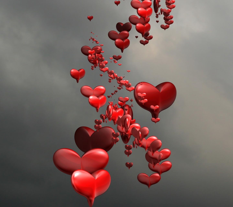 desktop wallpaper valentine heart balloons - photo #44