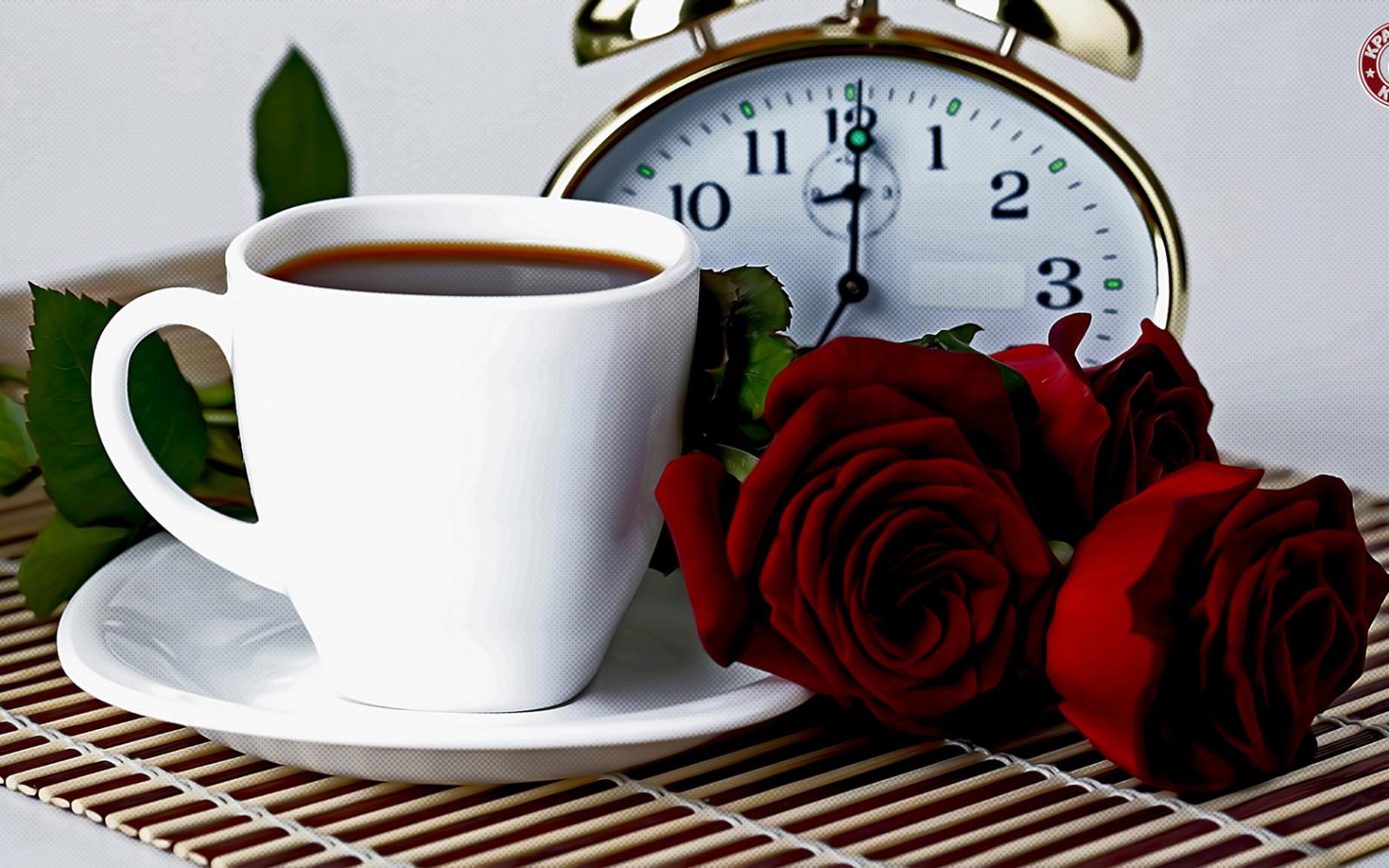 Открытка с чашкой кофе доброе утро, ведьмами надписью