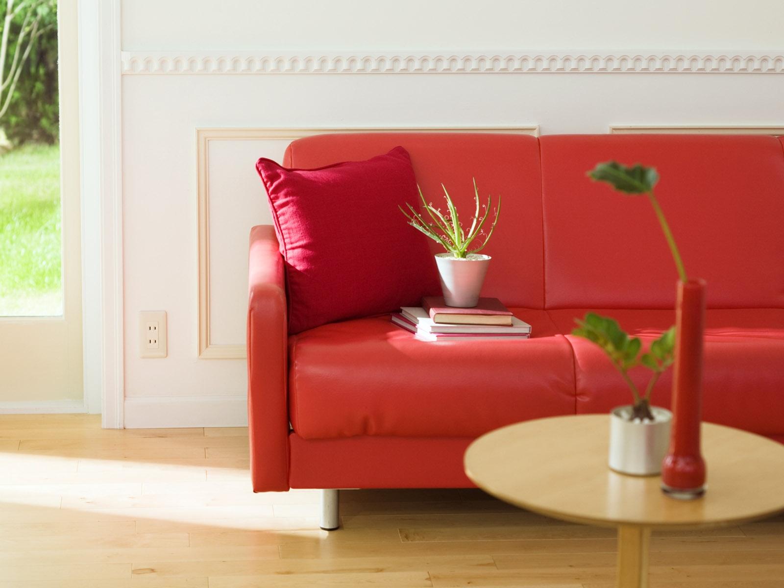Papel De Parede Quarto Vermelho Mesa Madeira Sof Rosa  -> Papel De Parede Para Sala Com Sofa Vermelho