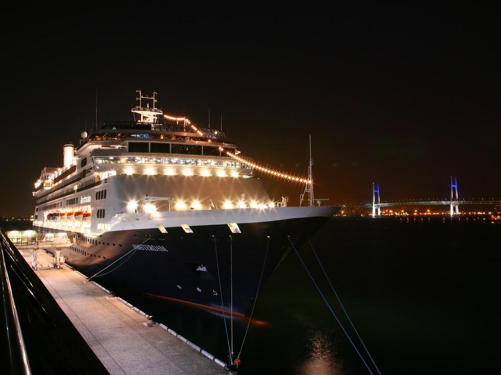Sfondi : città notte riflessione cielo sera ponte nave da