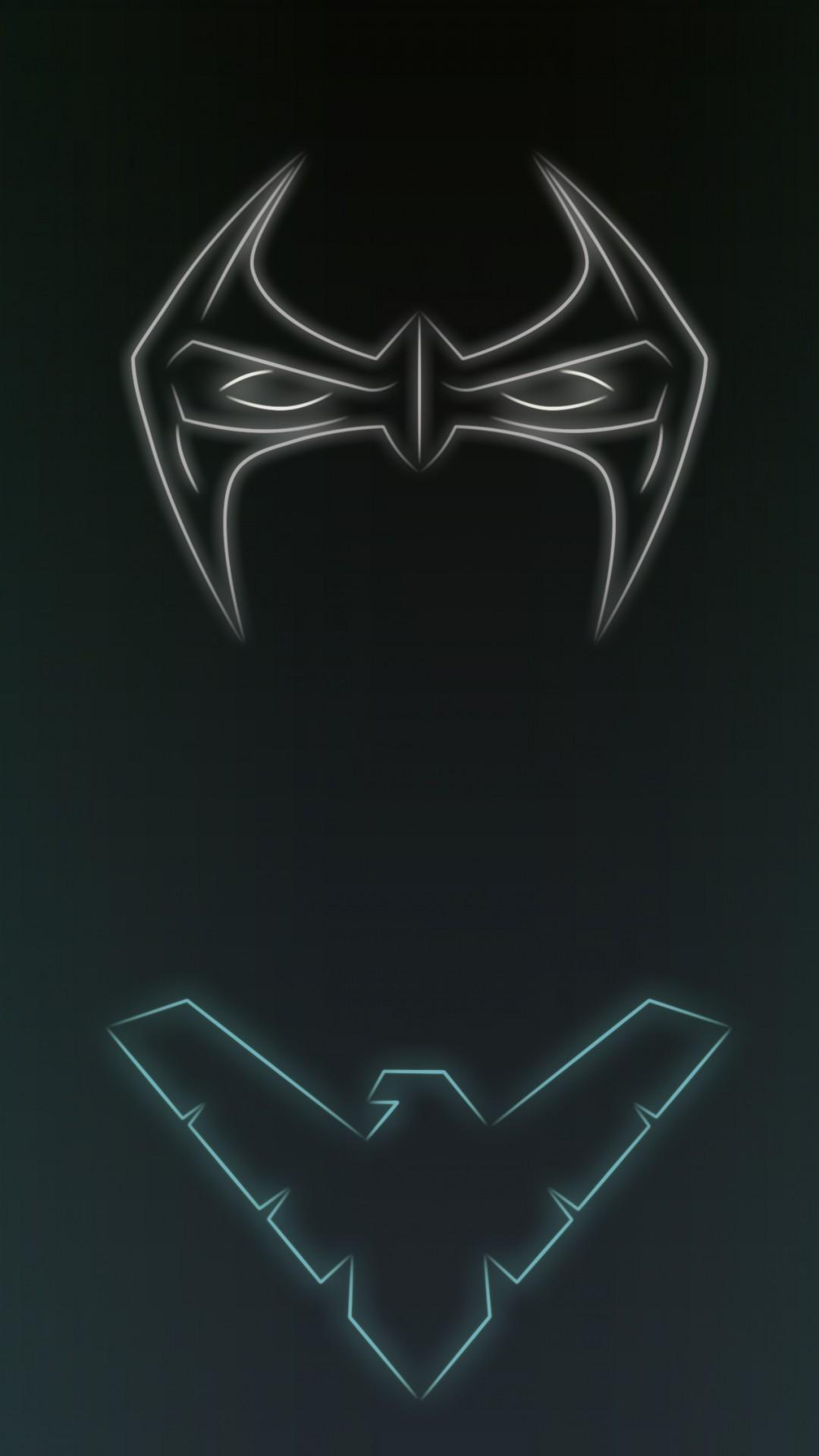 neon logo superhero neon lights light wing Trident symbol emblem graphics computer wallpaper font 1080x1920 px