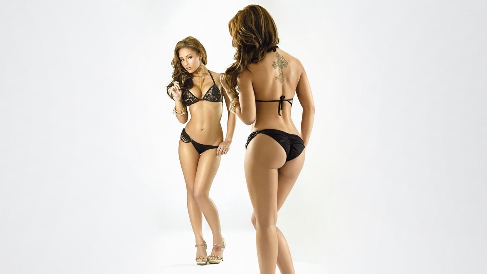 tits Brunette big big ass