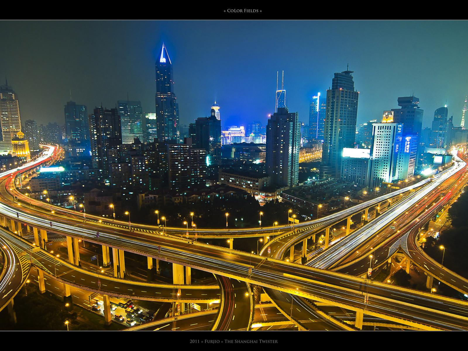 Wallpaper City Color Field Skyline Night Lights Highway Long Exposure Shanghai Intersection Roads Streaks Twister 2516x1890 979222 Hd Wallpapers Wallhere
