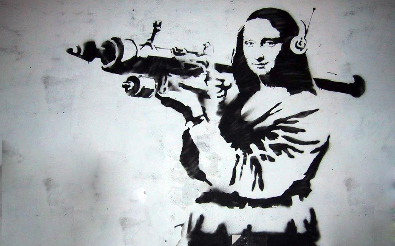 Drawing Black Illustration Graffiti Street Art Banksy Mona Lisa Calligraphy ART Sketch 1440x900 Px Album Cover