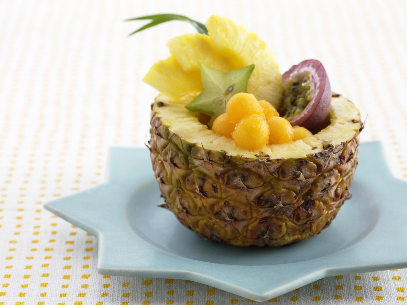 оформление ягодами ананаса фото вкусу