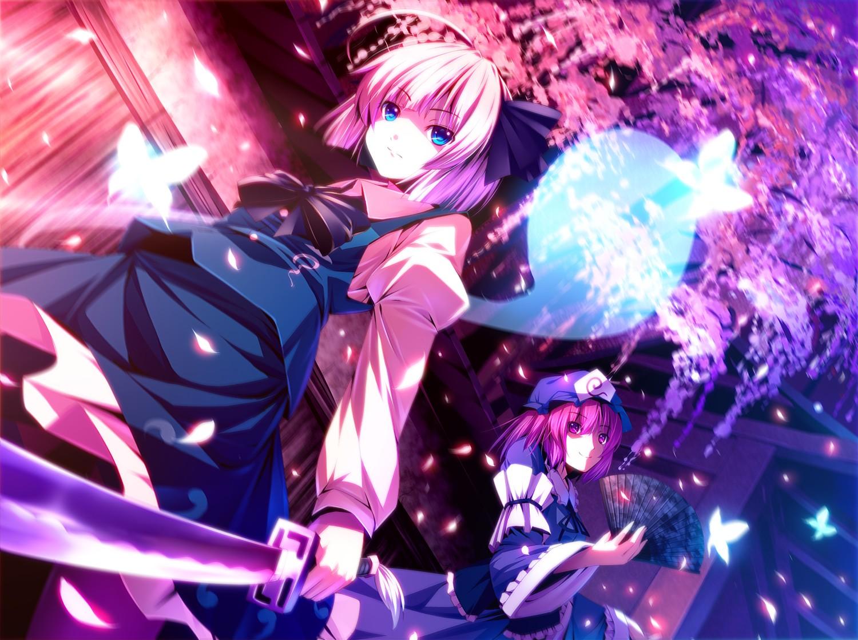 Fondos de pantalla : Anime, Chicas anime, Touhou, flor de