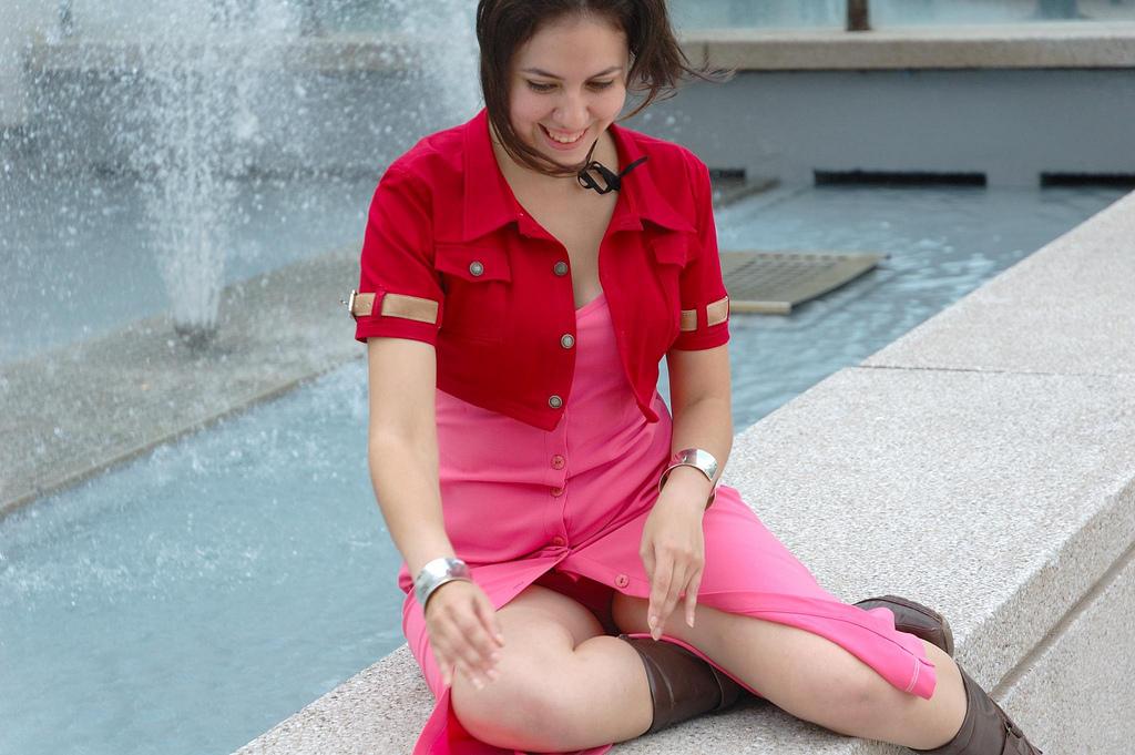Sexy rosa Höschen upskirt