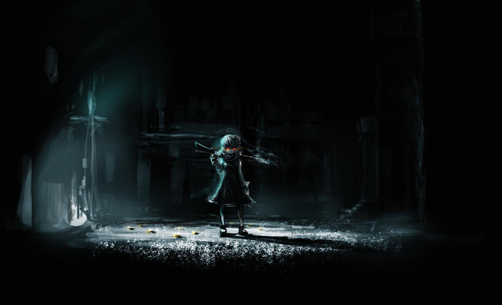 Wallpaper dark night anime girls artwork midnight light stage darkness screenshot - Midnight wallpaper hd ...