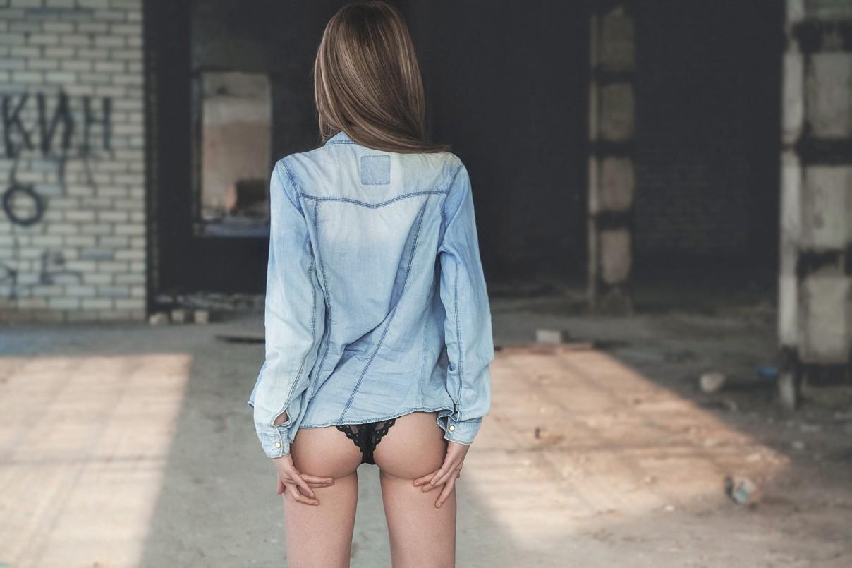 Wallpaper  White, Women, Model, Ass, Shorts, Blue, Skinny -3521