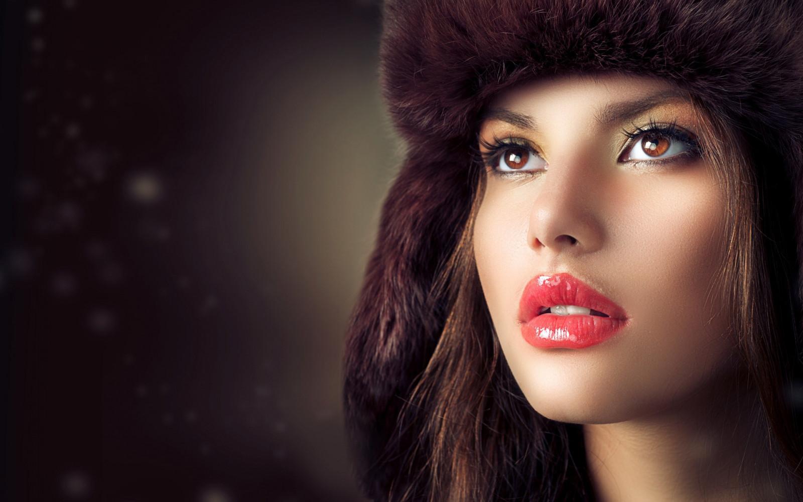 Wallpaper : Face, Black, Women, Model, Long Hair, Brunette