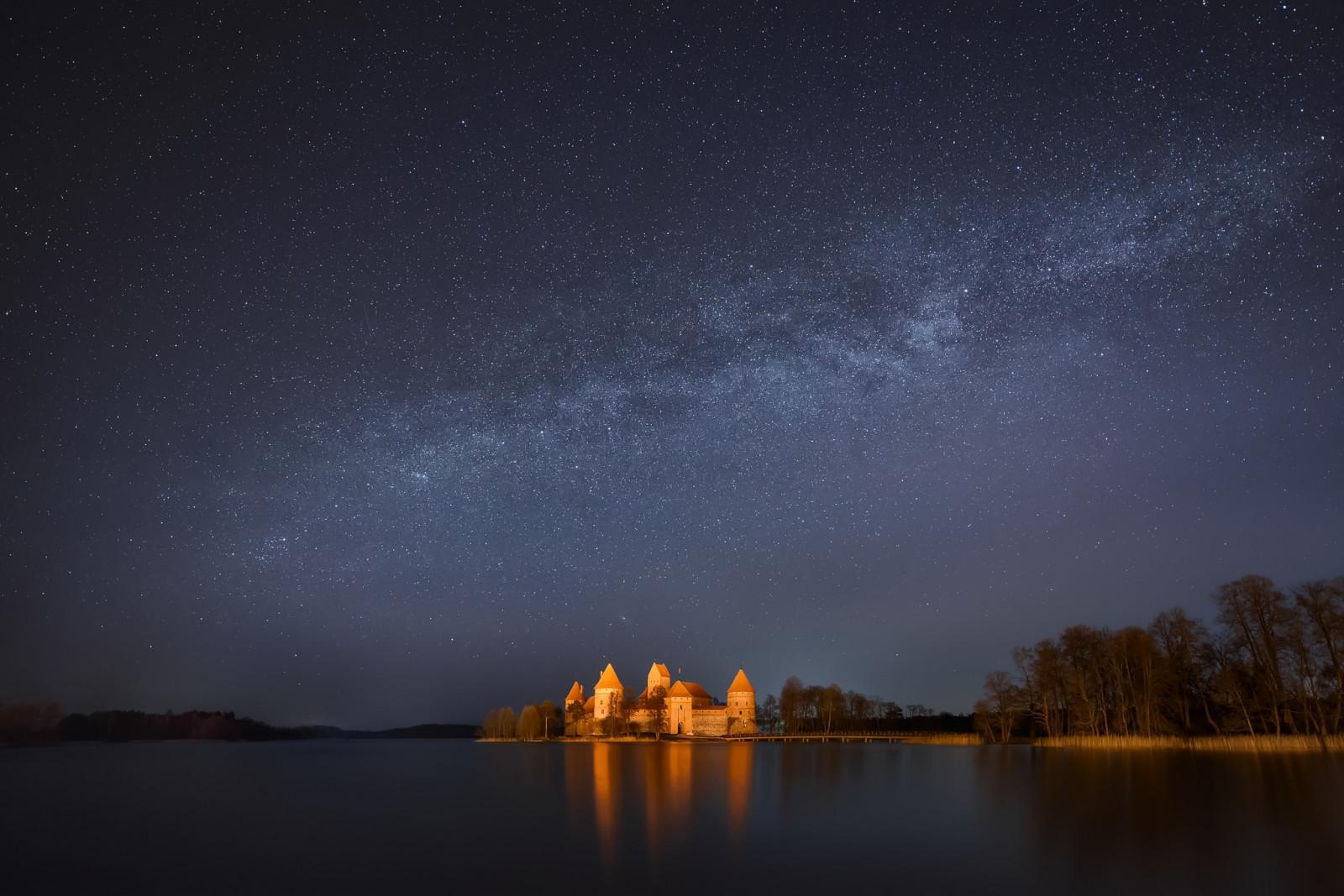 城と天の川