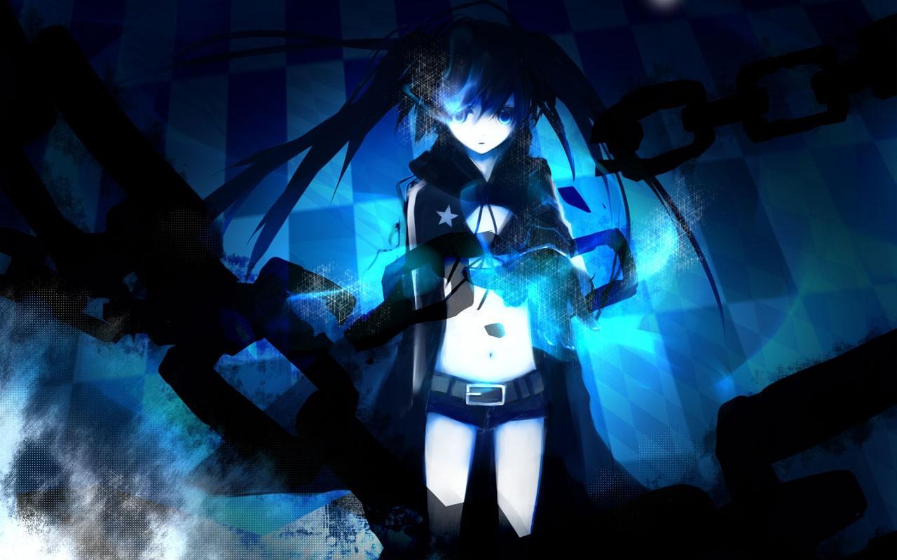 Wallpaper Anime Blue Darkness Screenshot 1280x800 Px