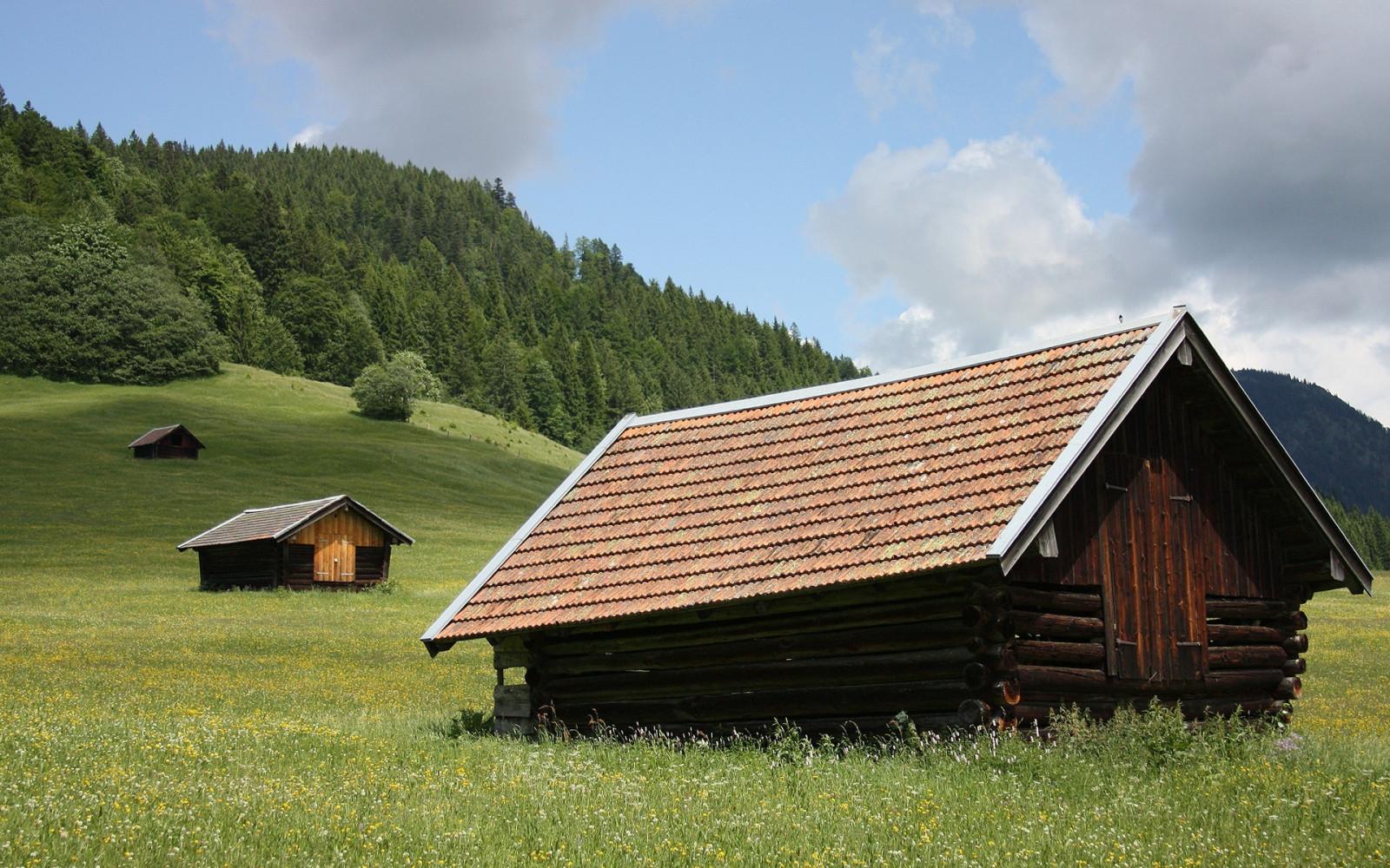 картинки с деревянным домиком на обои весь день