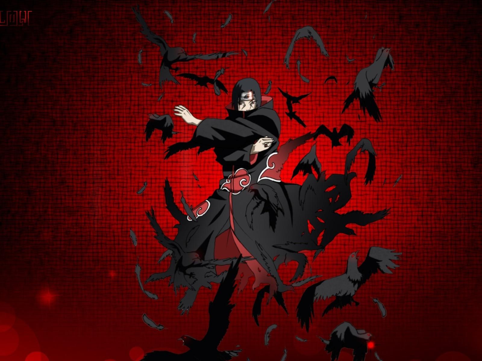 Beautiful Wallpaper Naruto Red - Naruto_Shippuuden_Uchiha_Itachi_raven_red_background_Akatsuki_anime_boys-197552  Gallery_1183.jpg!d