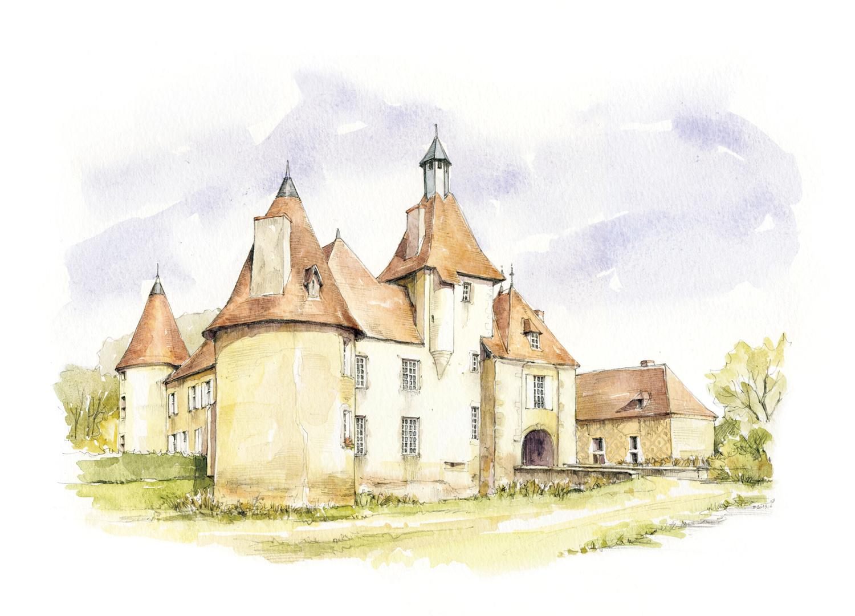 Wallpaper Gambar Lukisan Ilustrasi Bangunan Kastil
