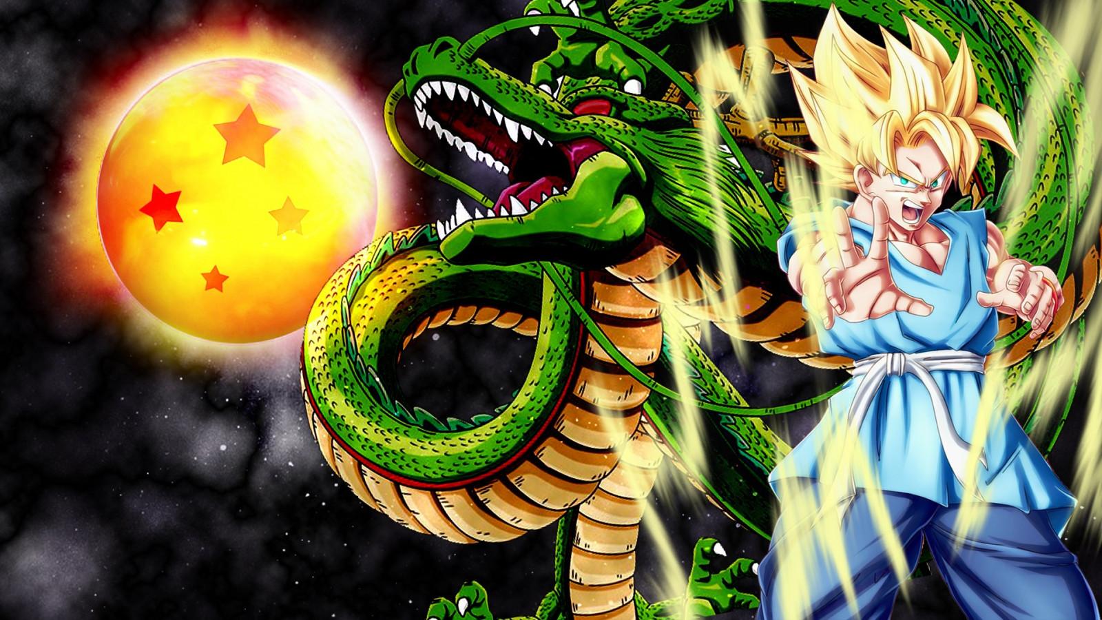 ドラゴンボール神龍と悟空の壁紙