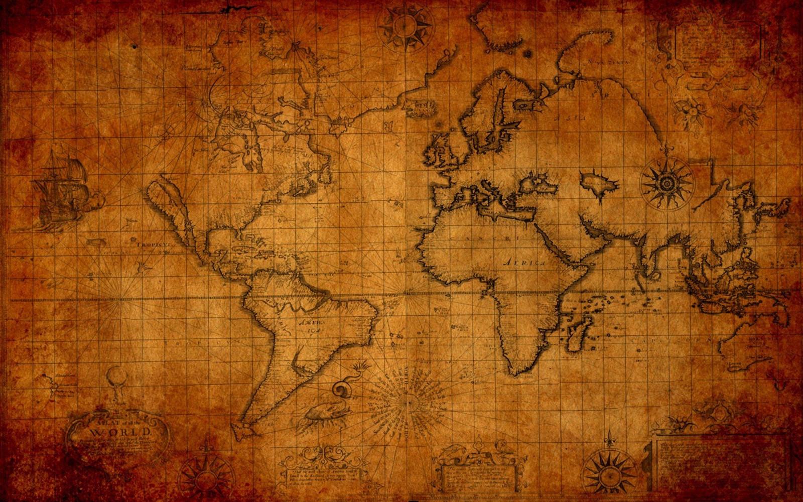 Старая карта картинка