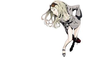 8e2ebeed60 dibujo ilustración Gafas de sol Anime dibujos animados bolso niña rubio  bosquejo capa