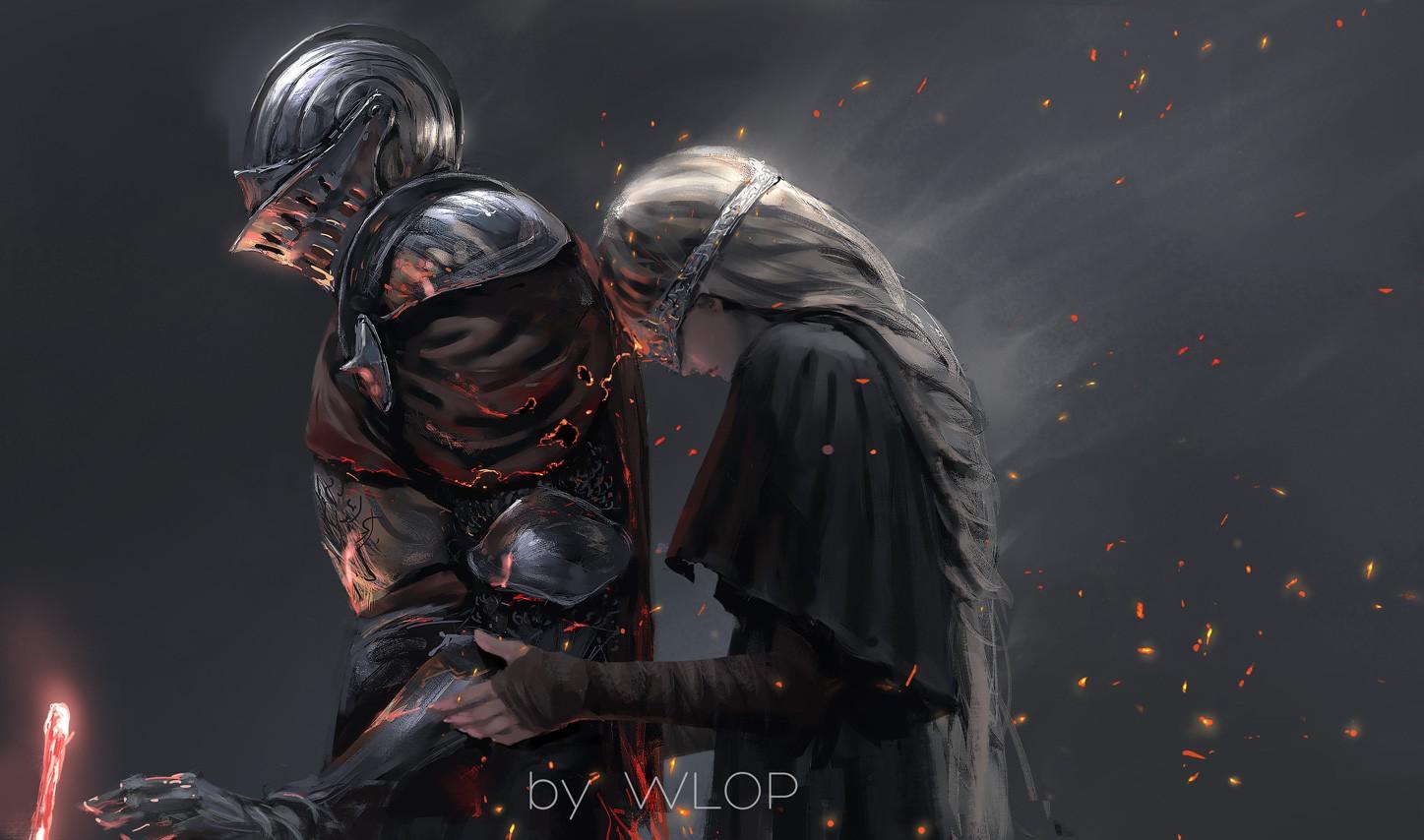 Wallpaper Digital Art Fantasy Art Knight Dark Souls