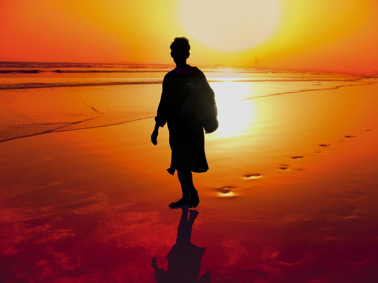 Sfondi Luce Del Sole Tramonto Acqua Sabbia Riflessione Cielo