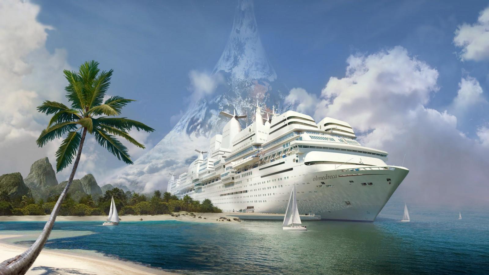 Wallpaper Perahu Teluk Kendaraan Pantai Lingkaran