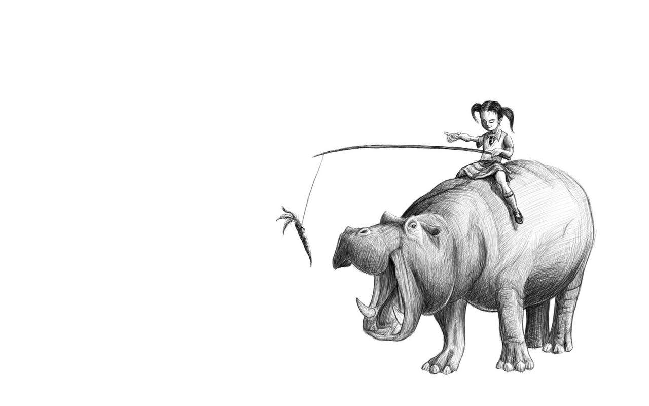 Poster vector seamless con elefanti carino cartone animato