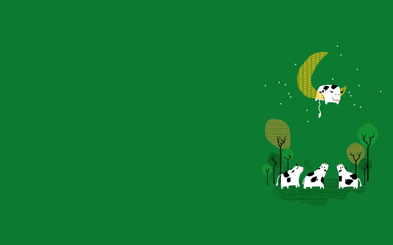 Illustration Minimalism Text Logo Green Cow Background Brand Screenshot Computer Wallpaper Font