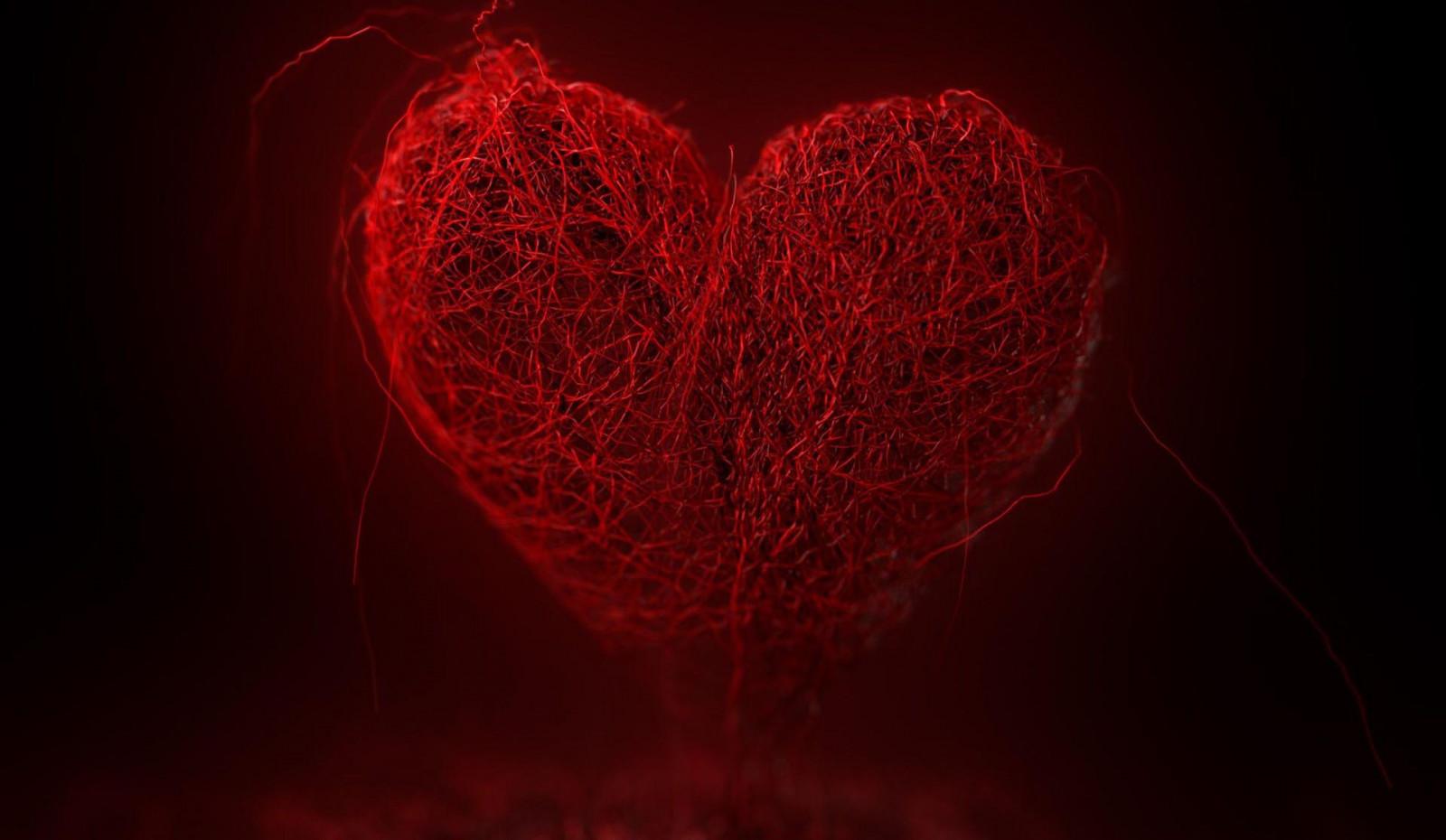 Fond d 39 cran amour c ur rouge ciel la saint valentin for Papier peint pour ordinateur