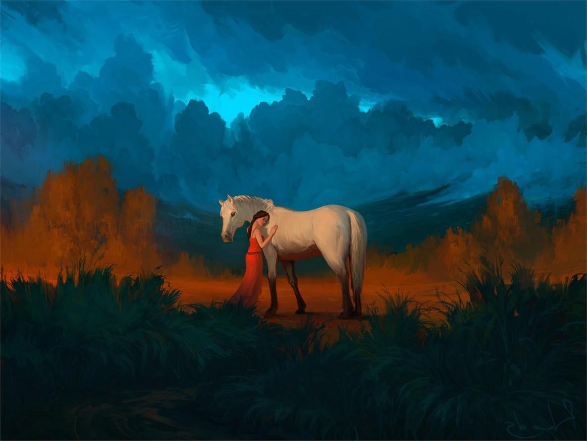 Тройка белоснежных лошадей бежит по воде - обои для рабочего стола. | 889x1185