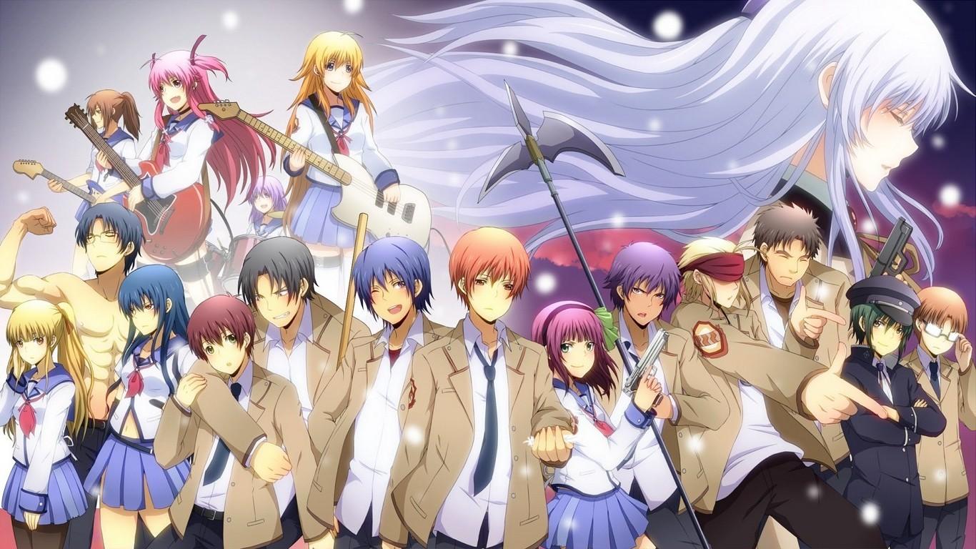 Fondos De Pantalla Anime Uniforme Escolar Falda Angel