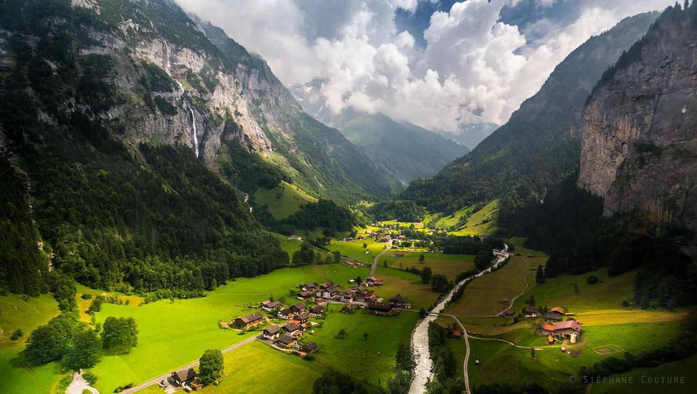 фото швейцария деревня