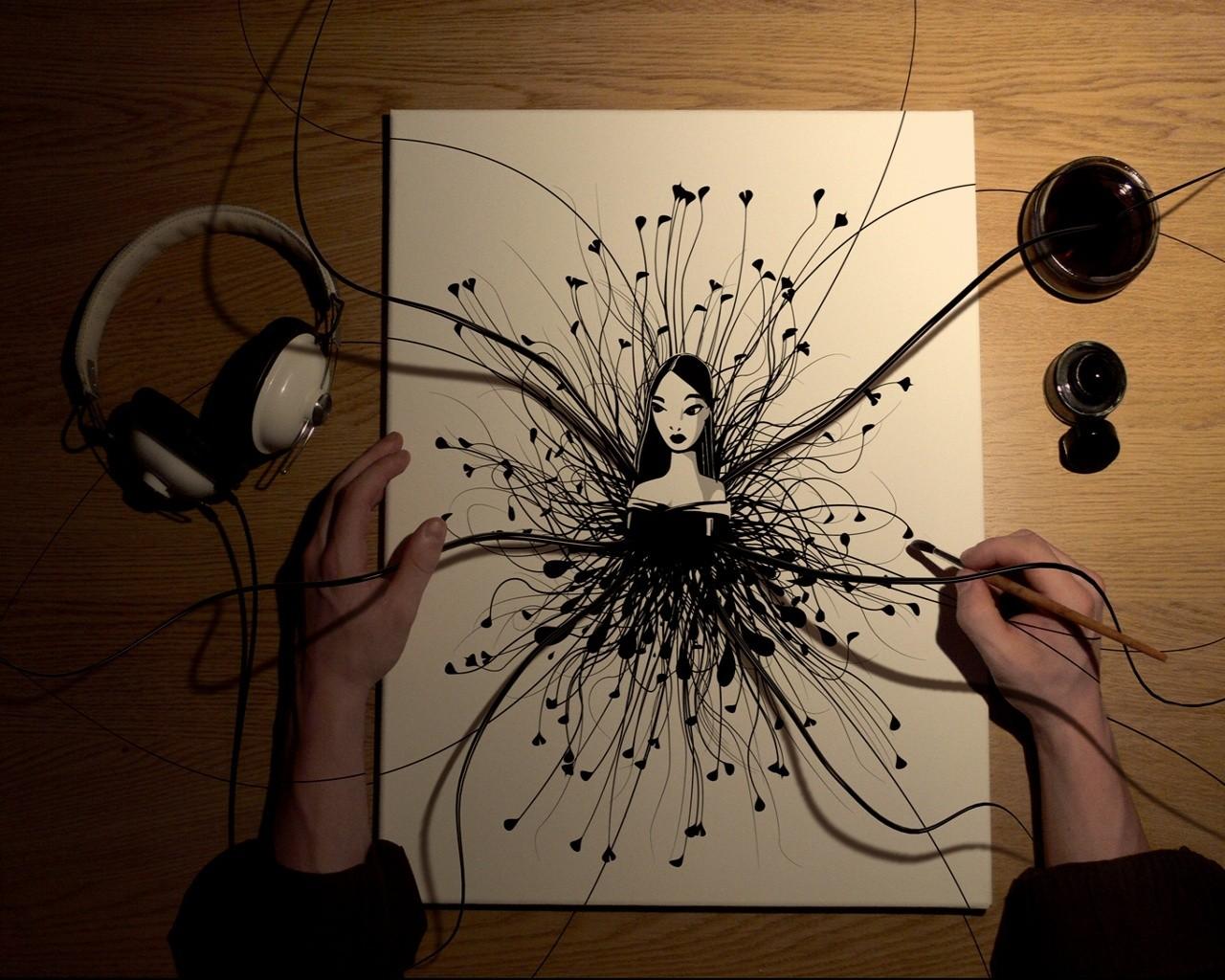 Рисунок для девушки своими руками