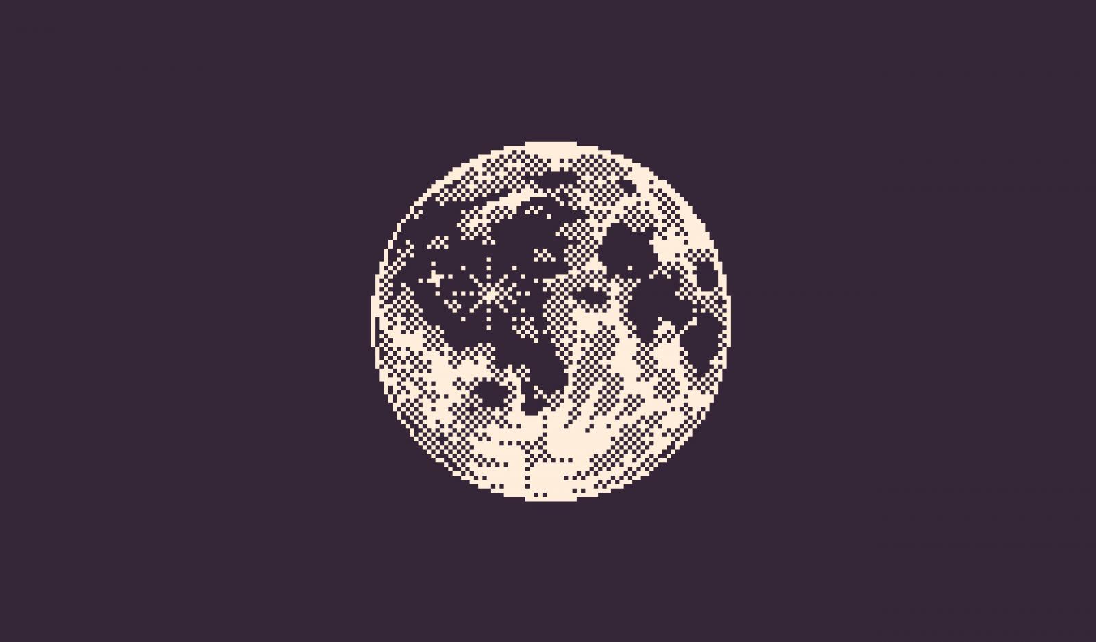 Wallpaper : pixel art, minimalism, purple background ...