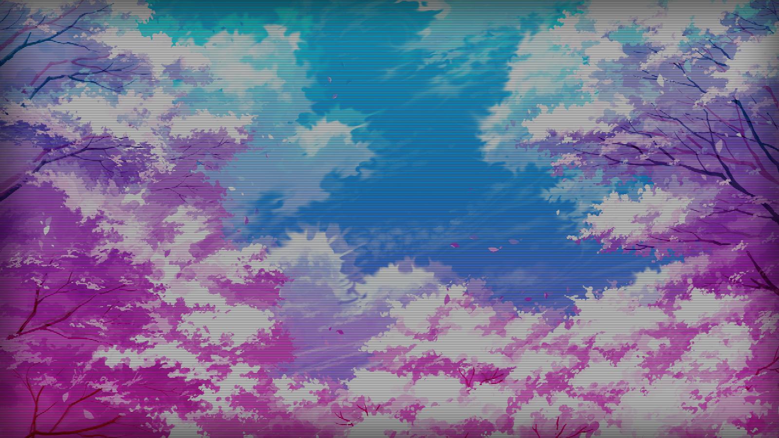 Wallpaper : edit, vaporwave, artwork, digital art, trees ...