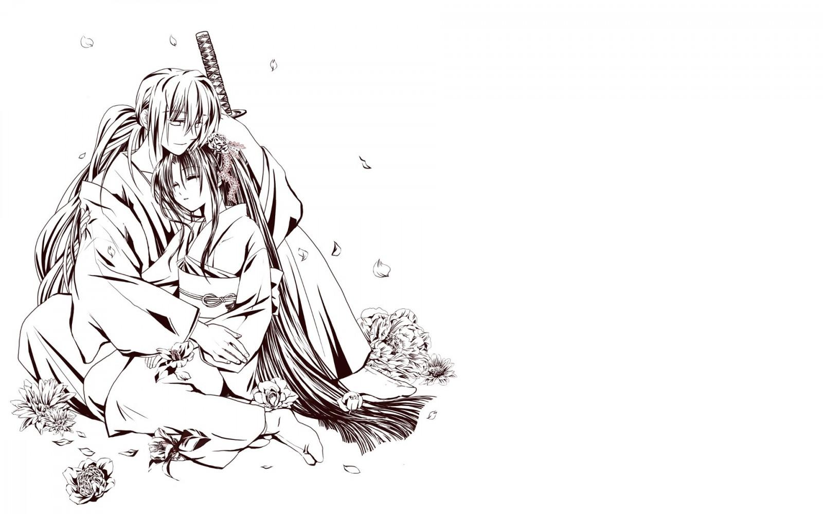 Wallpaper Ilustrasi Garis Seni Gambar Kartun Pedang Anak