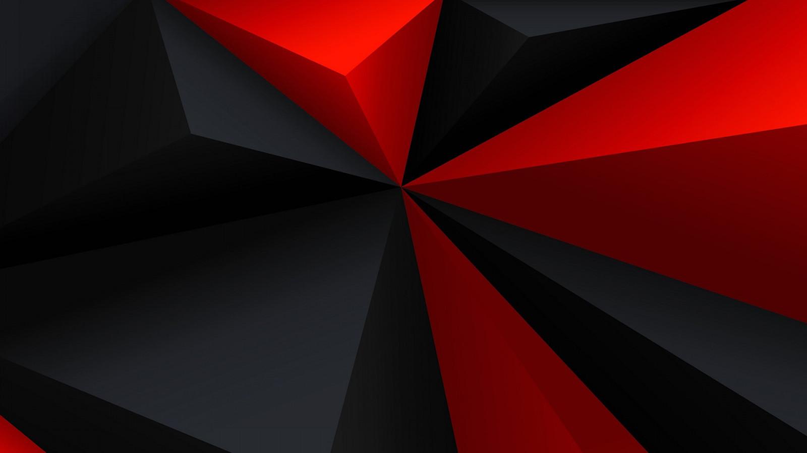 デスクトップ壁紙 黒 デジタルアート 抽象 ミニマリズム 赤 低