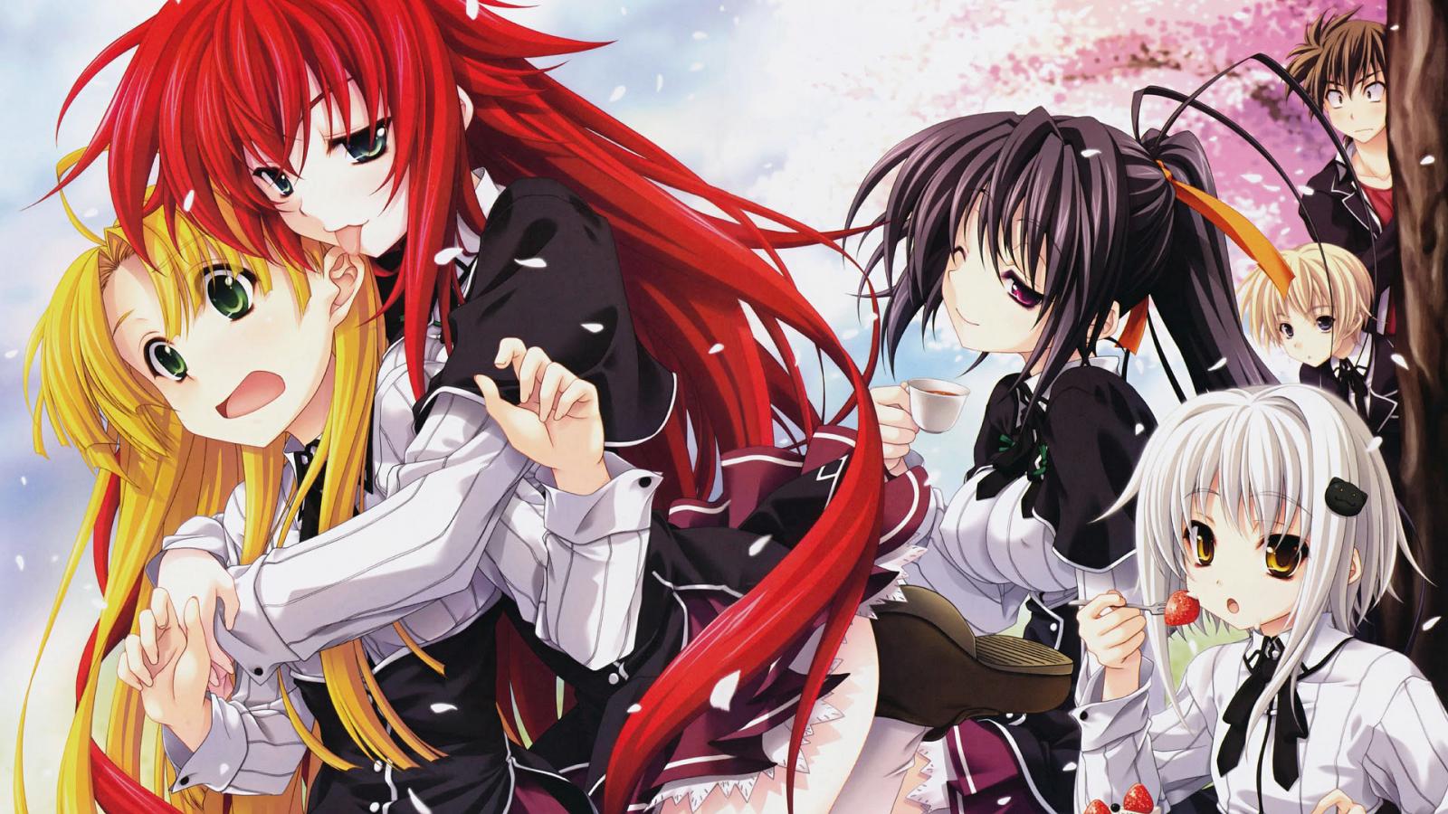 Wallpaper : illustration, anime girls, artwork, Highschool ...