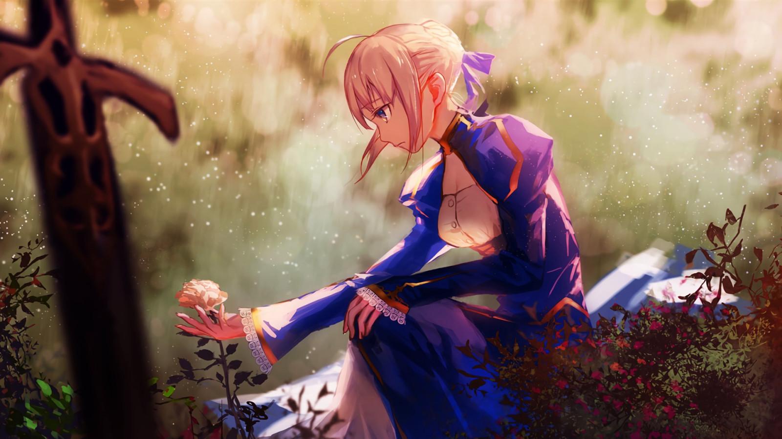1920x1080 px anime Anime Girls Fate Series Saber Tohsaka