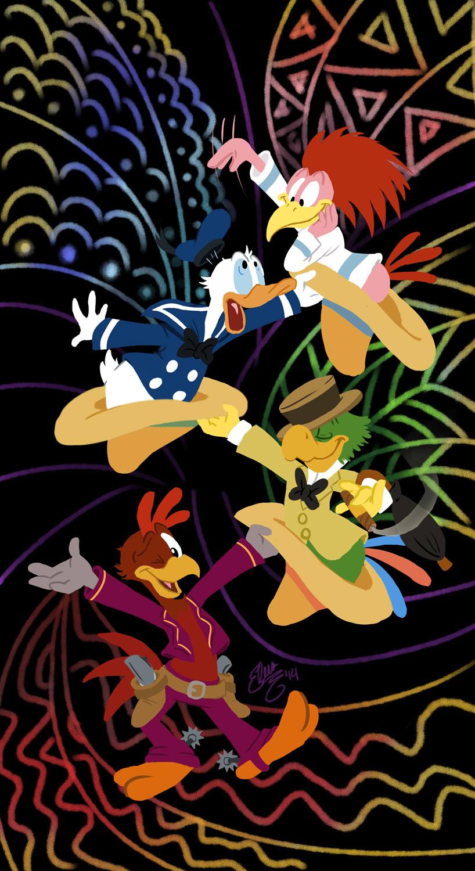 Sfondi cartone animato walt disney i tre caballeros