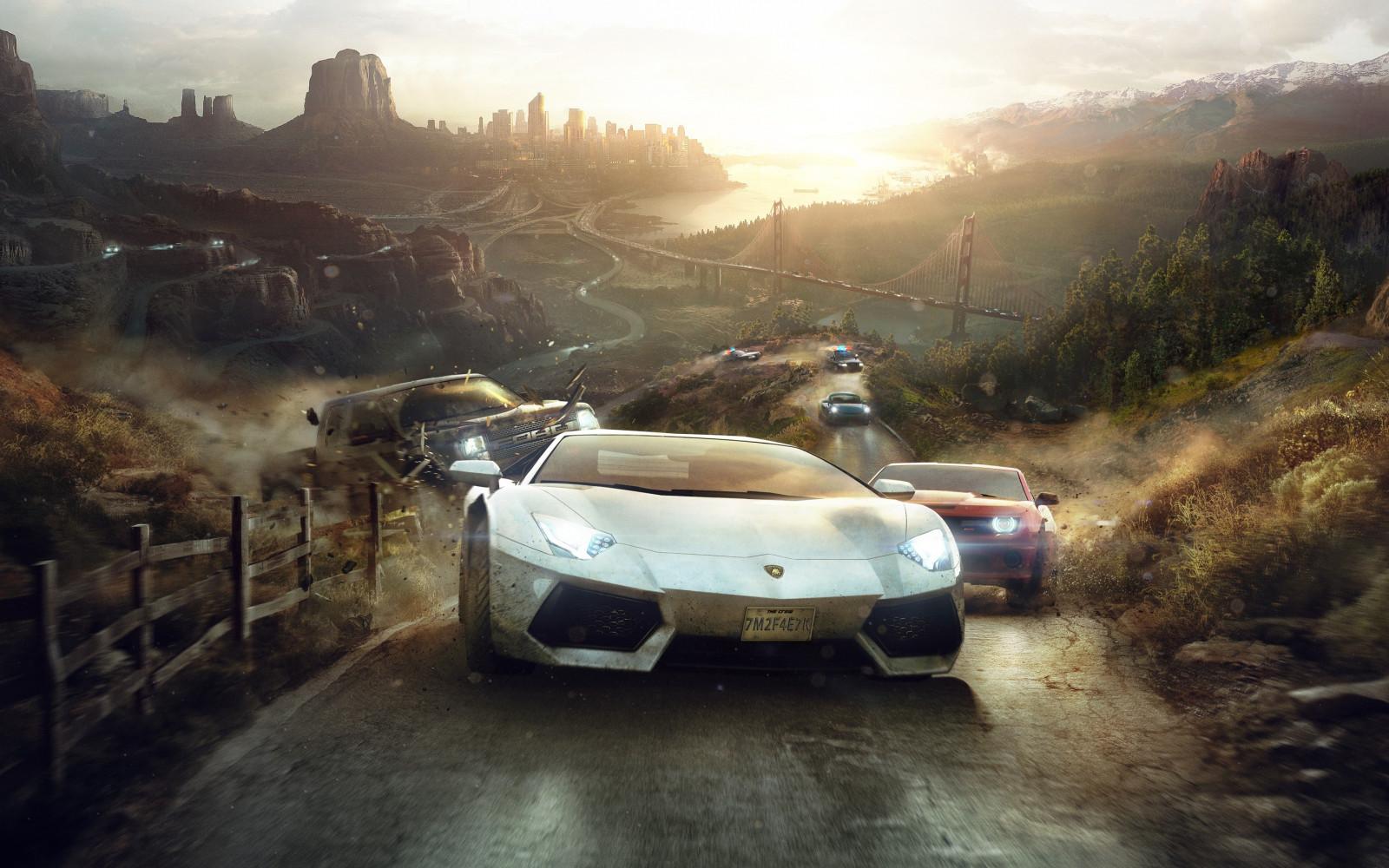 Wallpaper Video Games Lamborghini Aventador Ford Usa The Crew