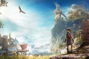 Wallpaper Assassin S Creed Greece Landscape Zeus Statue