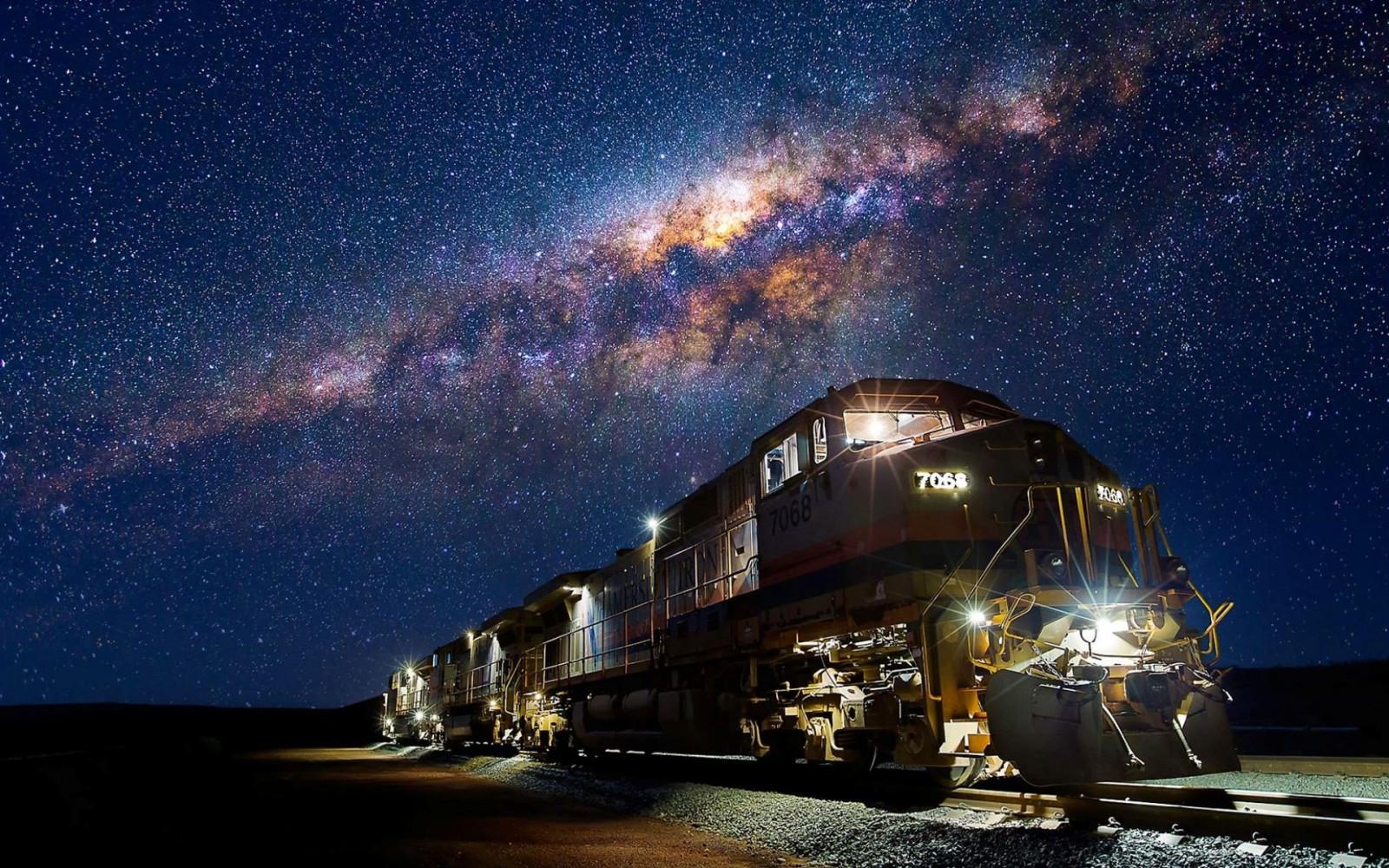 汽車と天の川