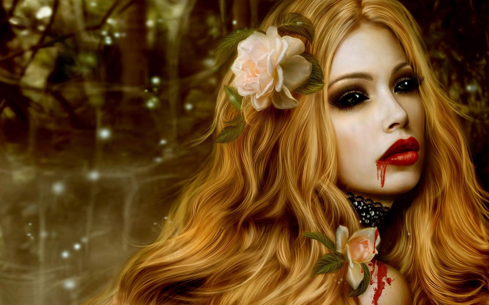 Фото вампира девушки блондинки