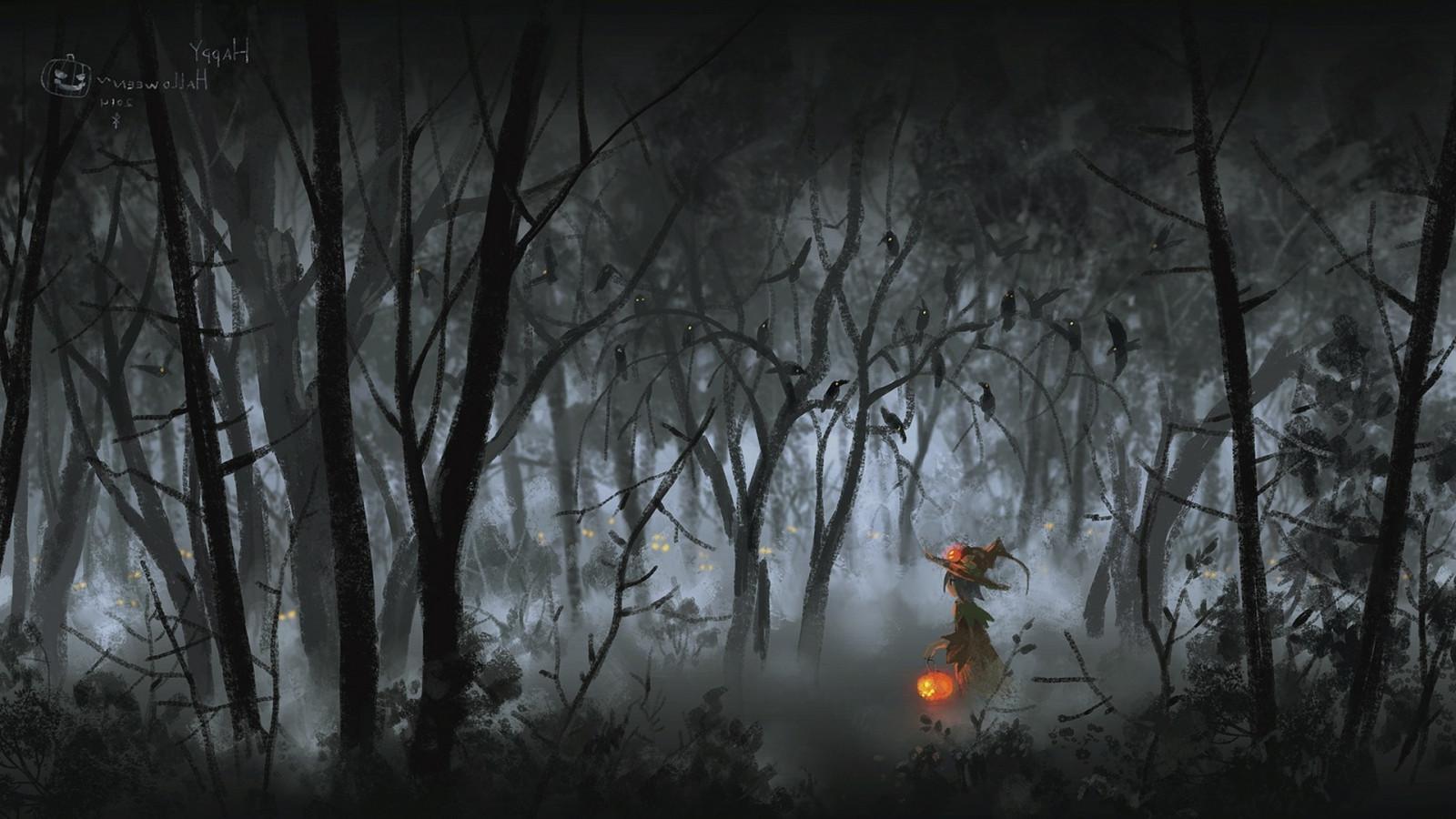 Wallpaper Sunlight Forest Fantasy Art Night Nature