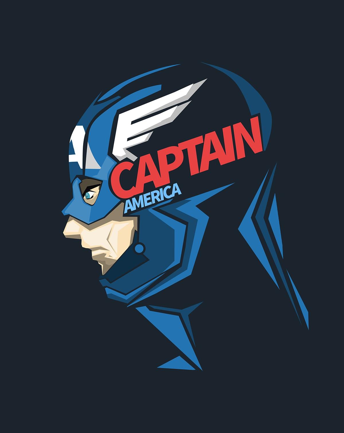 Wallpaper Ilustrasi Logo Gambar Kartun Super Hero Kapten