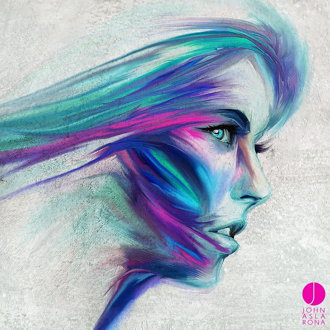 fond d 39 cran visage dessin illustration femmes abstrait violet profil bleu john. Black Bedroom Furniture Sets. Home Design Ideas