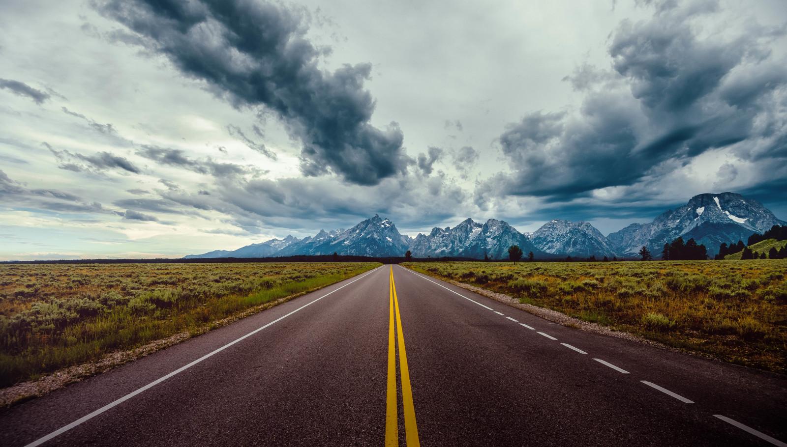 Wallpaper jalan langit awan awan 7843x4462 Rexar